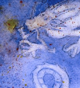 There be dragons, watercolor, art, dream, story