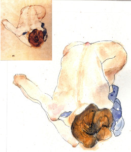 Studying the masters, Egon Schiele