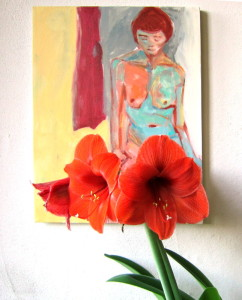 Amaryllis and Nude