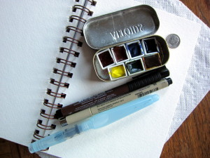 Travel kit for watercolors